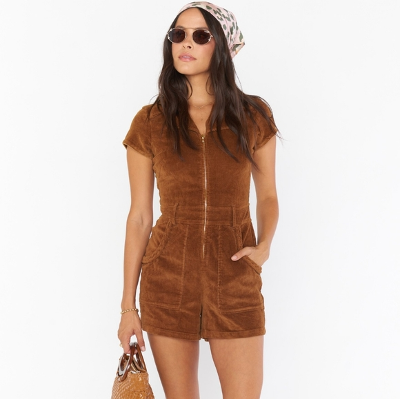 Show Me Your Mumu Outlaw Corduroy Romper Small nwt